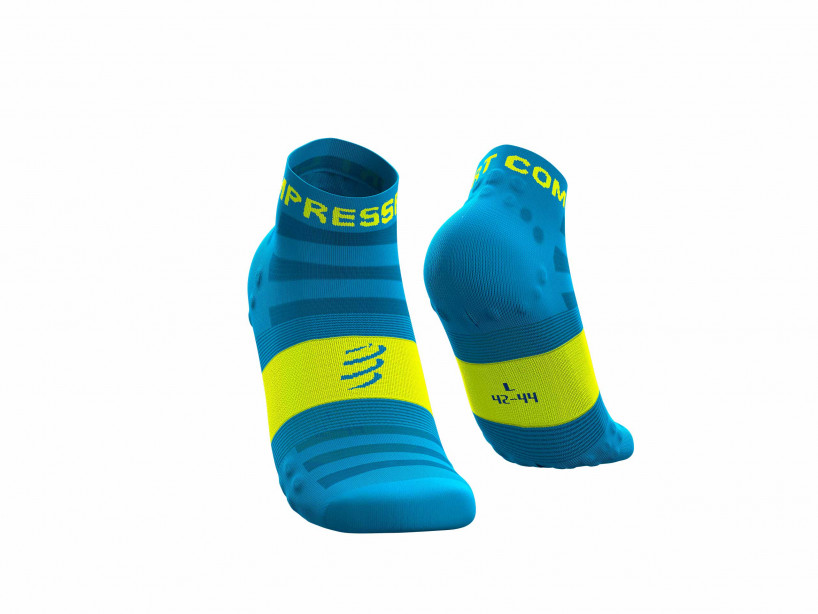 Calcetines Pro Racing v3.0 Ultralight Run Low flúor azules