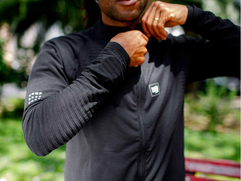Seamless Zip Sweatshirt BLACK