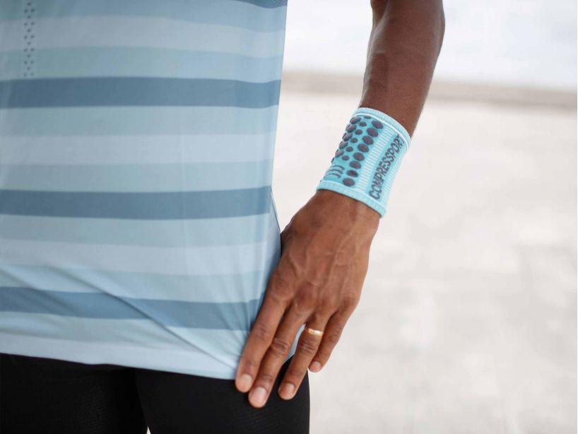 Sweatbands 3D.Dots NILE BLUE