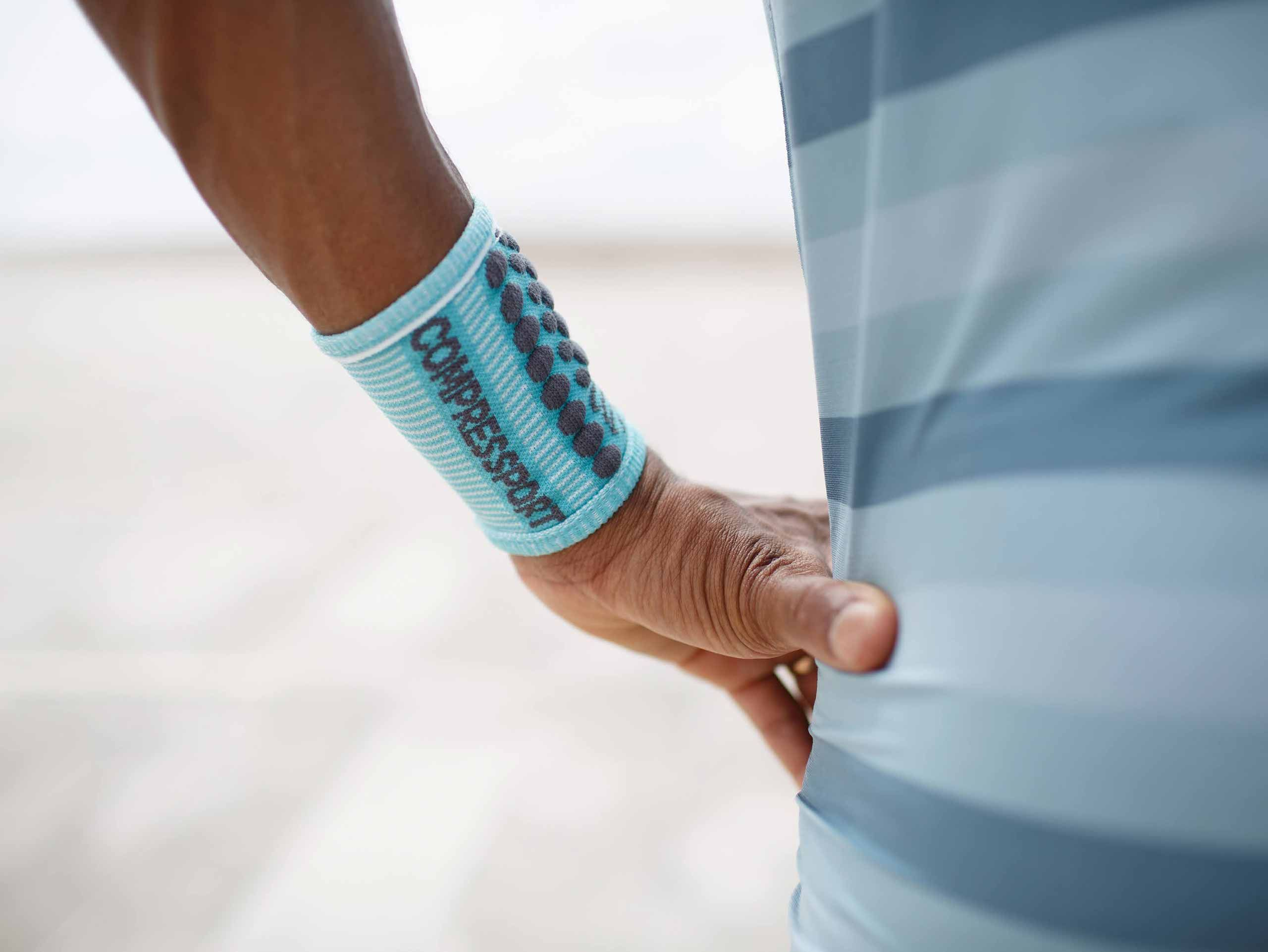 Sweatbands 3D.Dots NILE BLUE