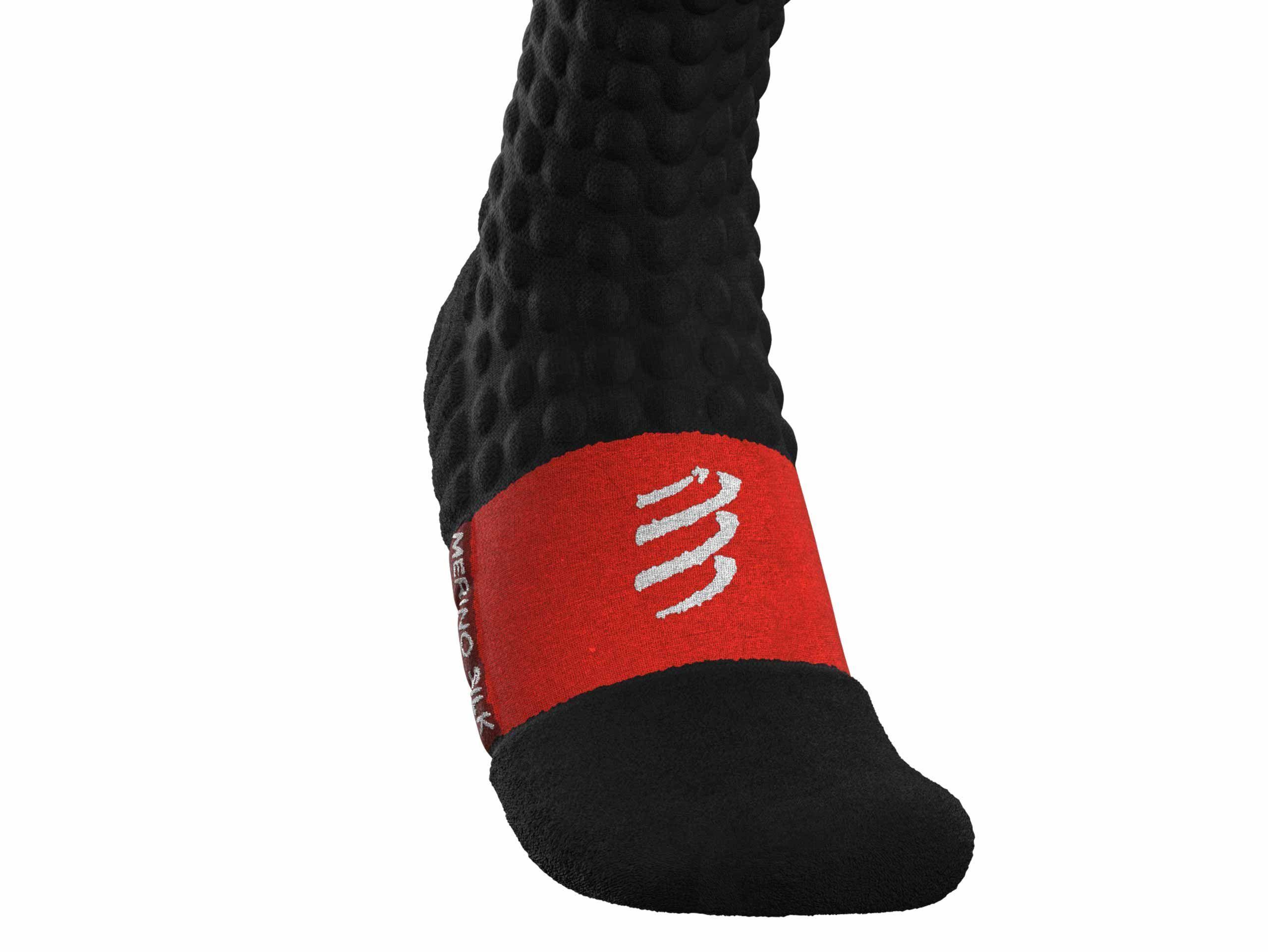 Alpine Ski Merino Full Socks BLACK/WHITE