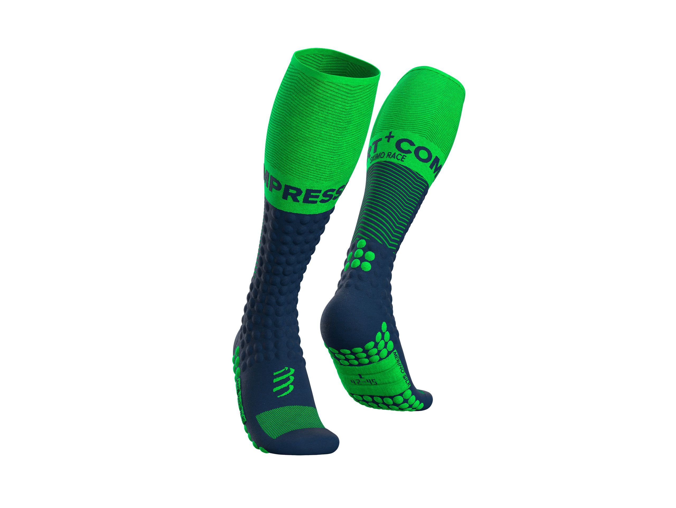 Skimo Full Socks - Blue Lime