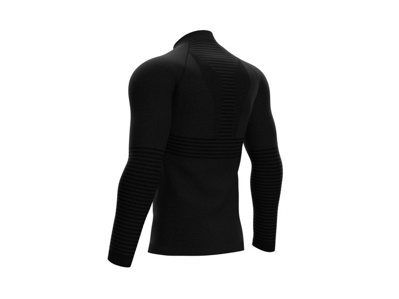 Seamless Zip Sweatshirt - Black