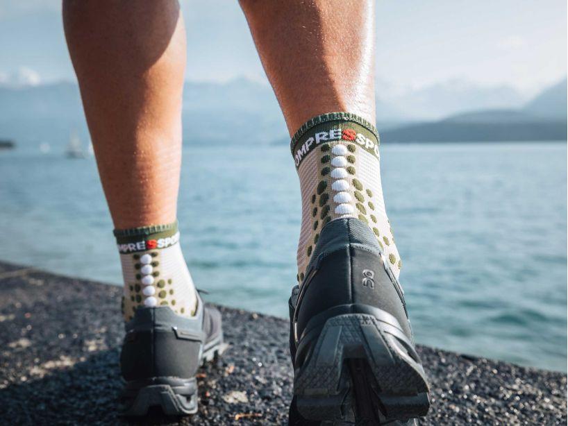 Pro racing socks v3.0 run high vert de gris