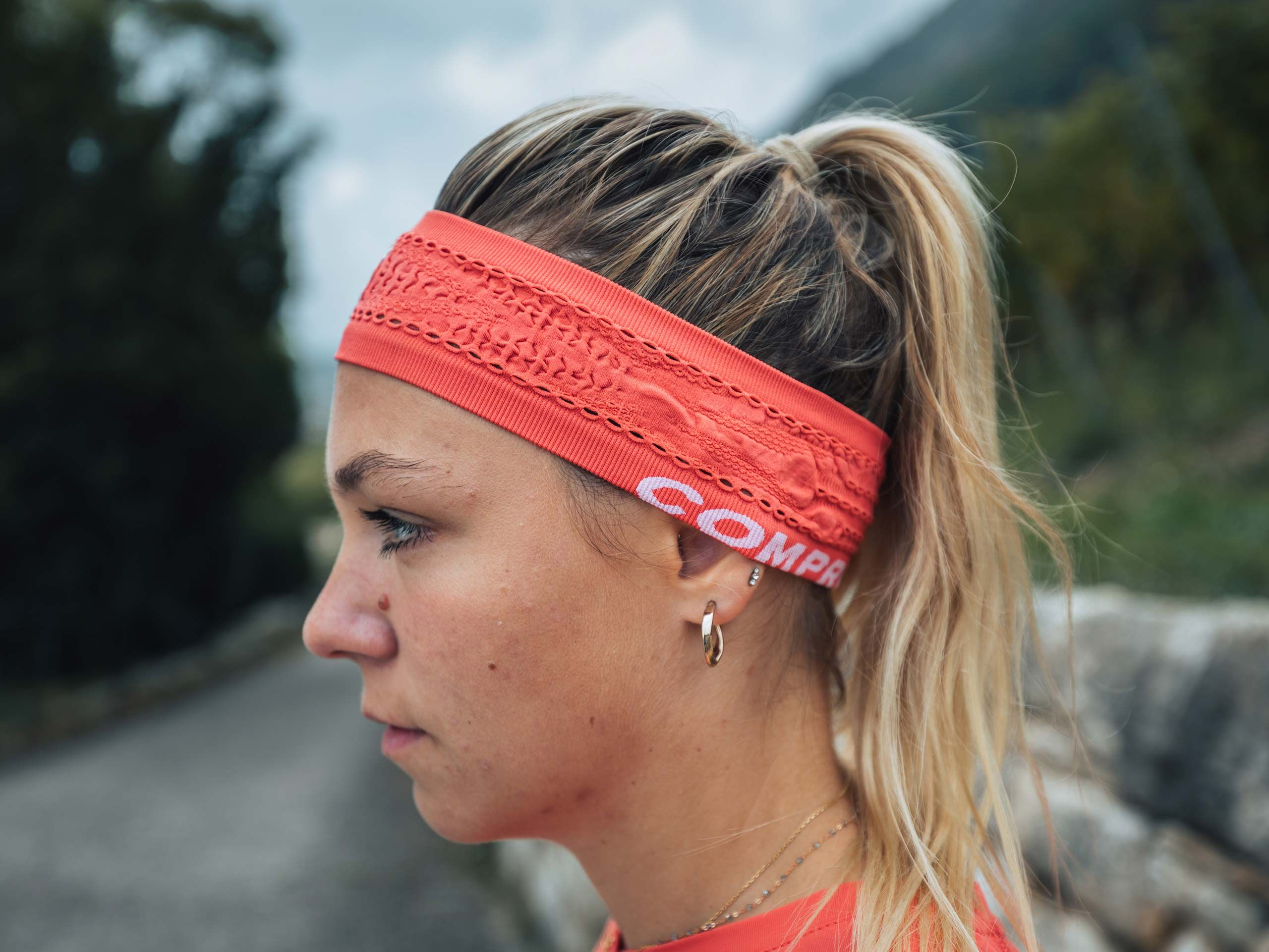 Thin Headband On/Off CORAL