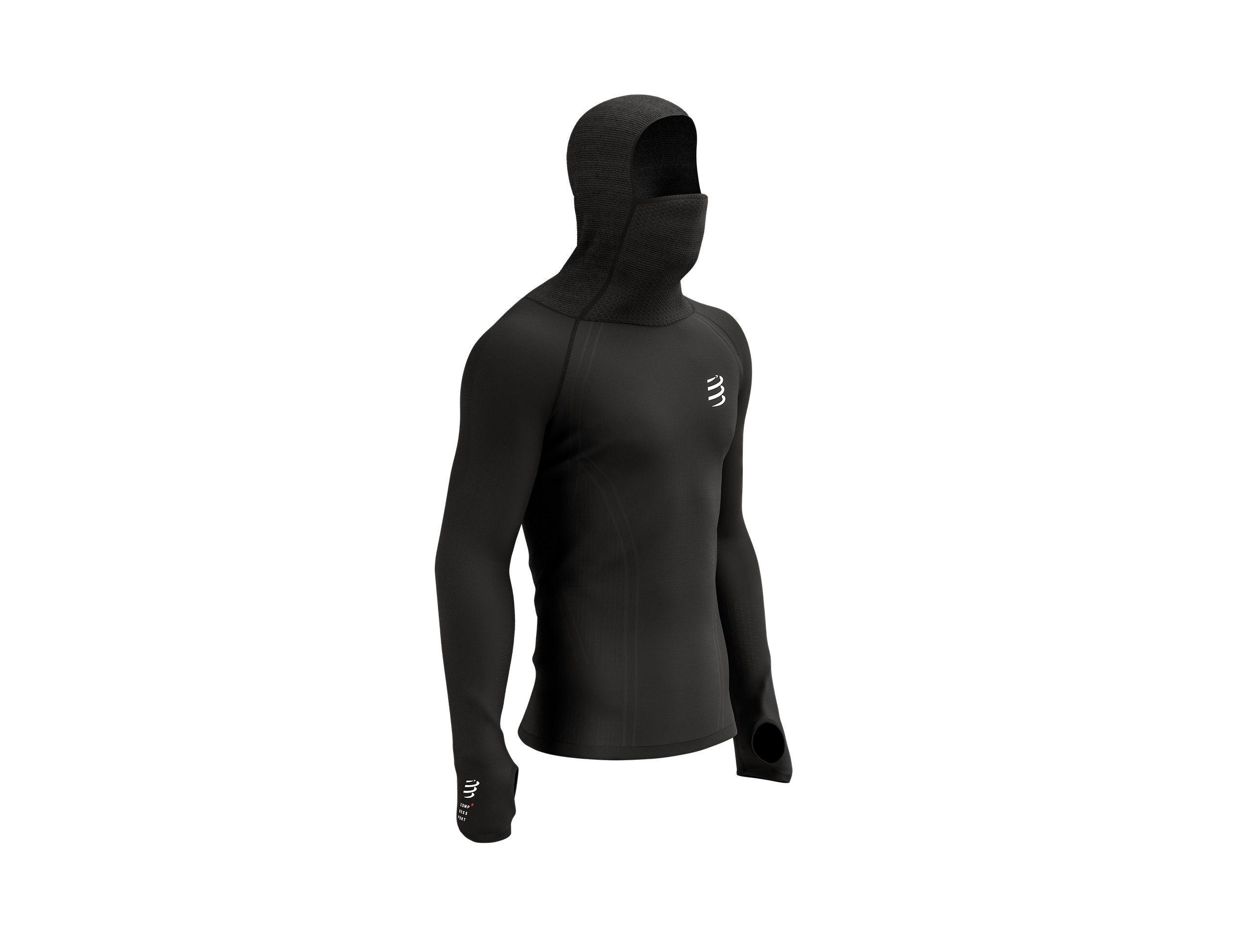 3D Thermo UltraLight Racing Hoodie BLACK