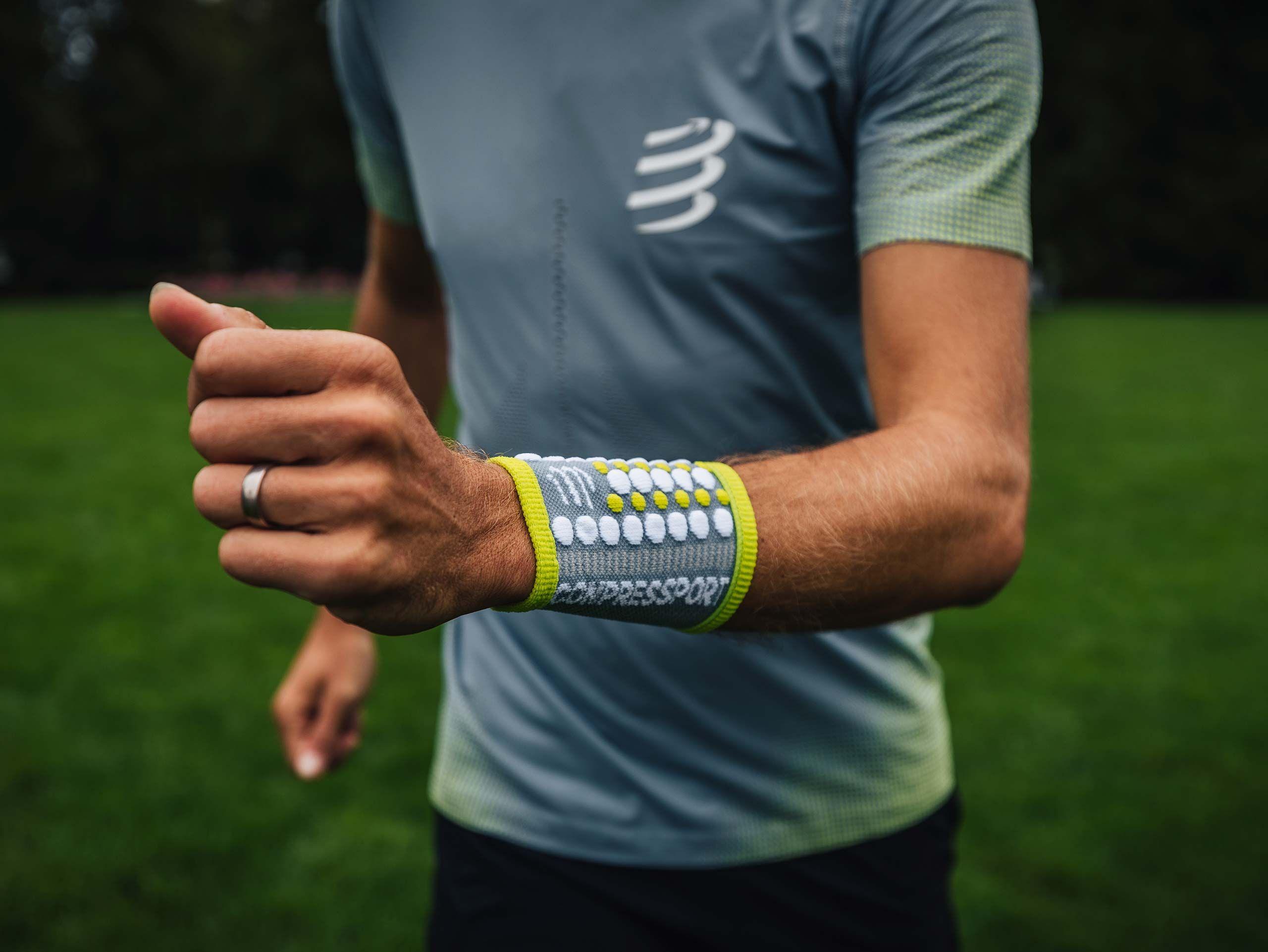 Sweatbands 3D.Dots GREY/LIME