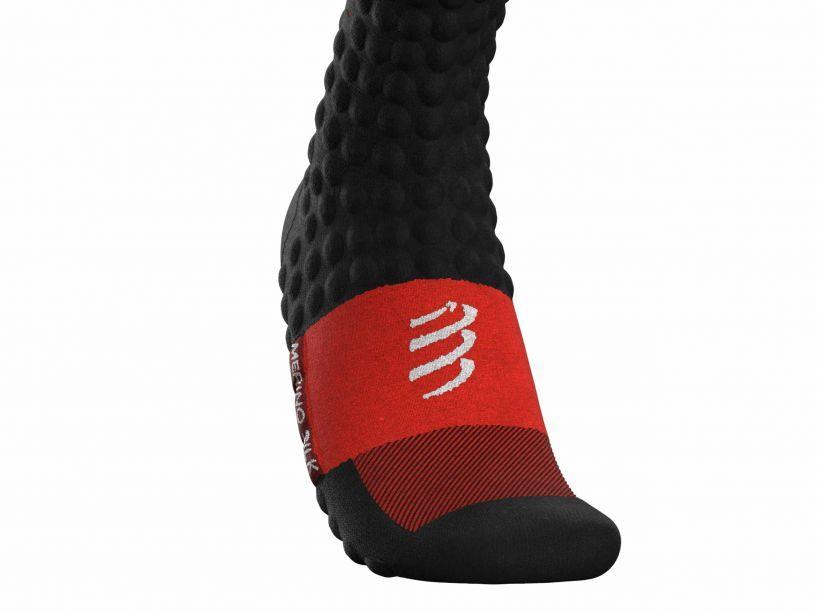 Chaussette skimo noir rouge