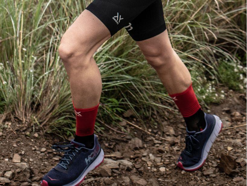 Mid Compression Socks noir/rouge