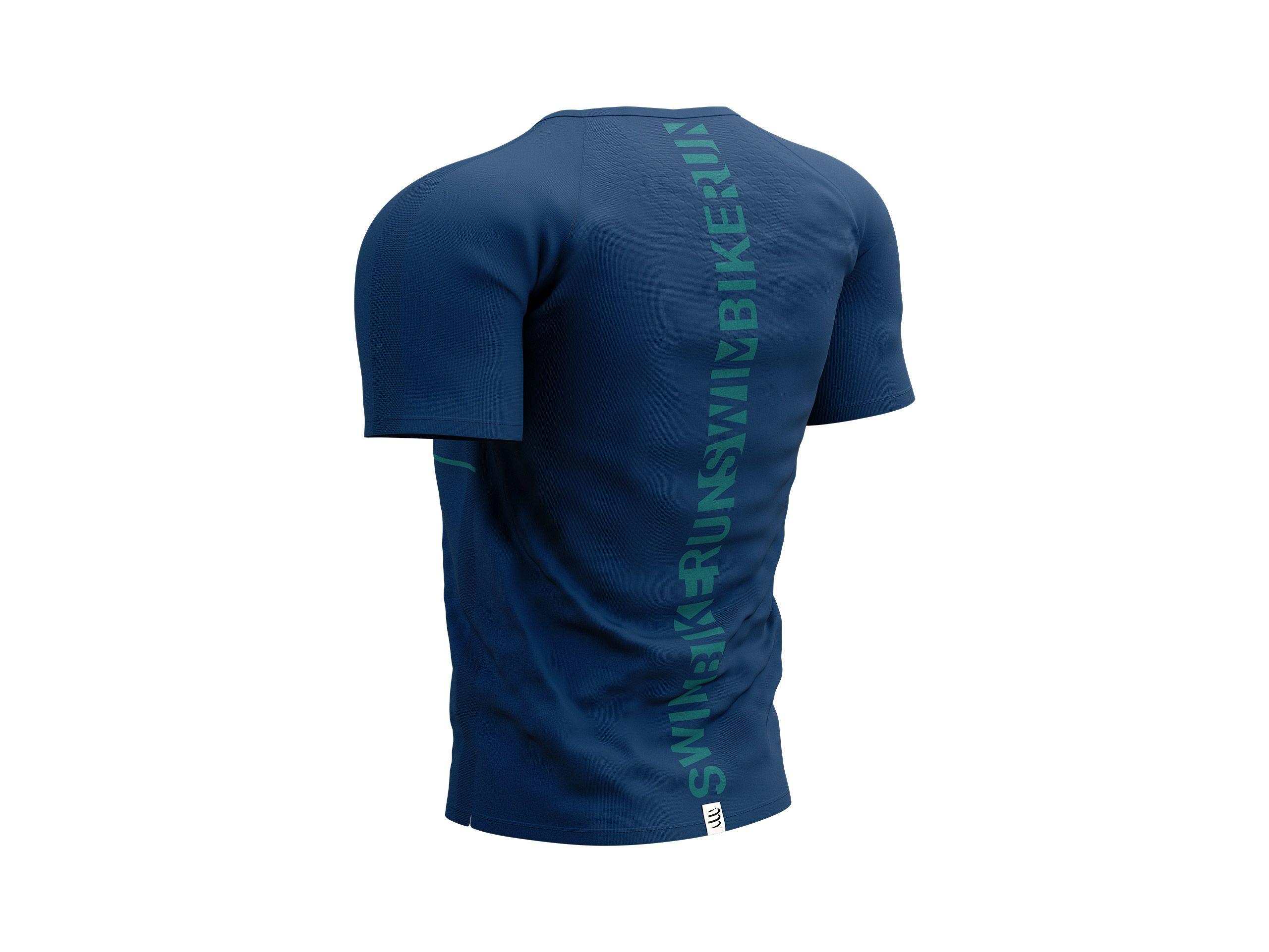 Training Tshirt SS - Born To SwimBikeRun 2021 MOONLIT OCEAN/D GREEN