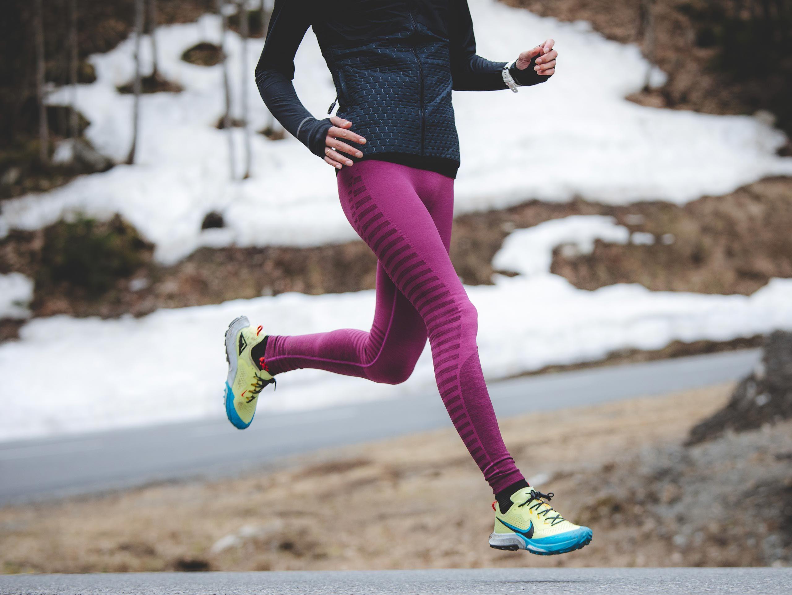 Winter Run Legging W AMARANTH