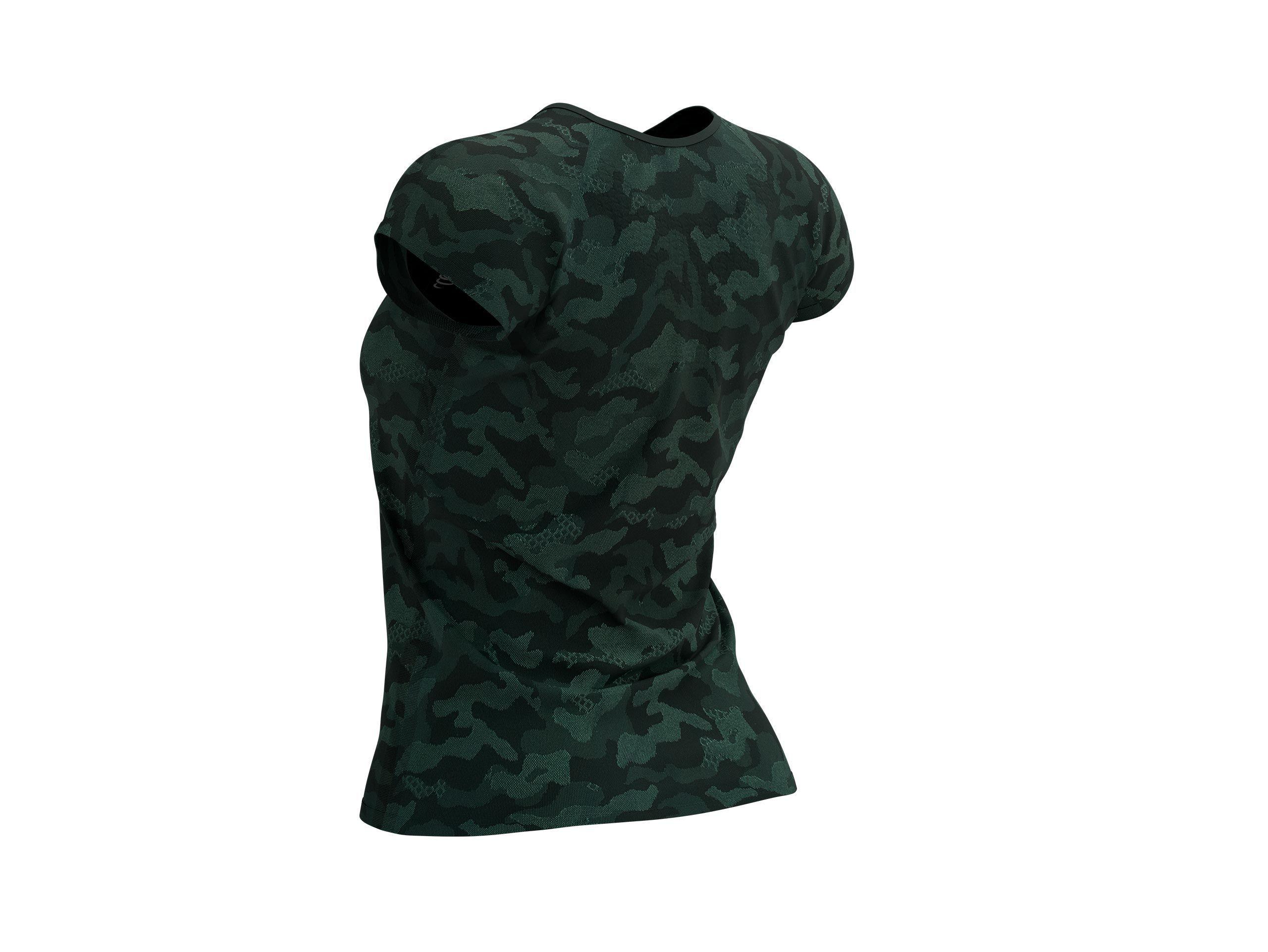 Training SS Tshirt W Camo Premium - Silver Pine