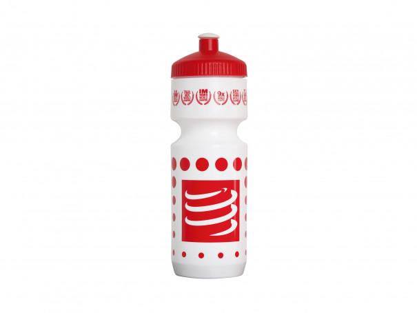 Fahrradflasche weiß/rot