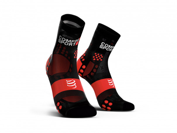 Pro Racing Socks v3.0 Run Ultralight Run High schwarz/rot