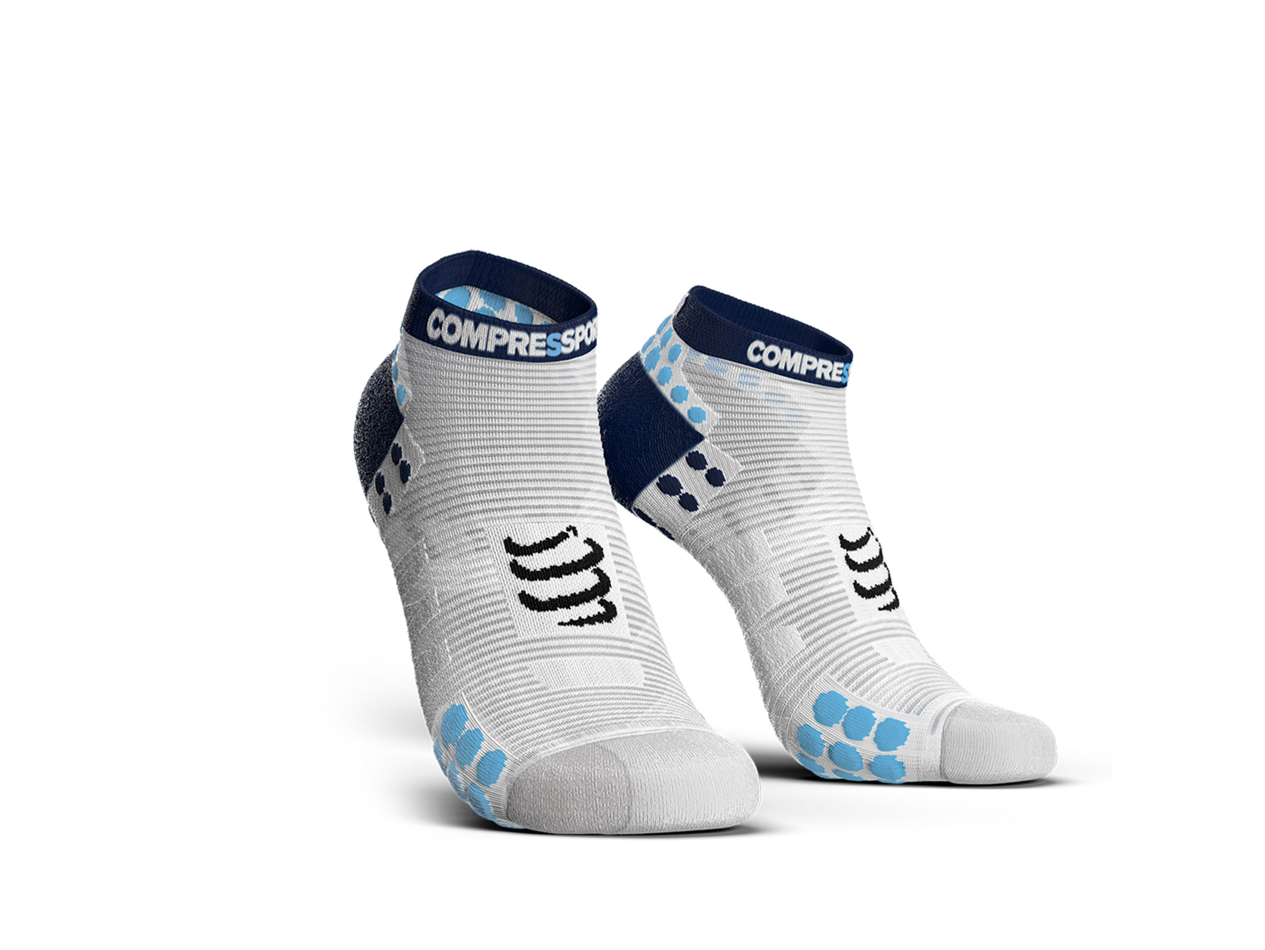 Pro Racing Socks v3.0 Run Low weiß/blau