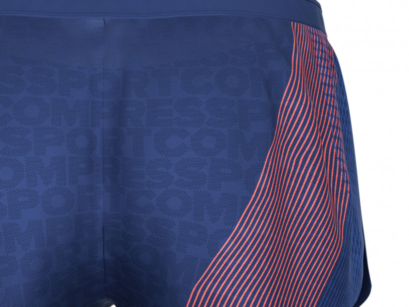 Racing Split Short M blau