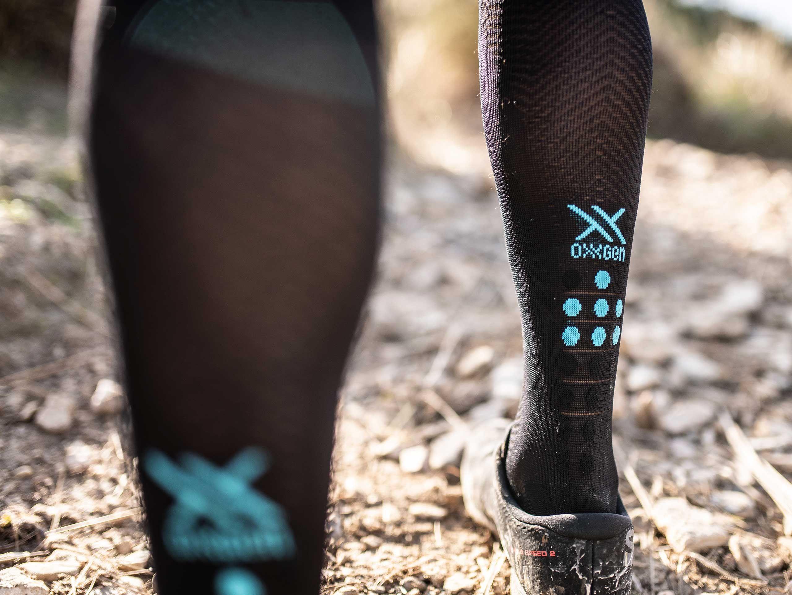 Full Socks Race Oxygen schwarz