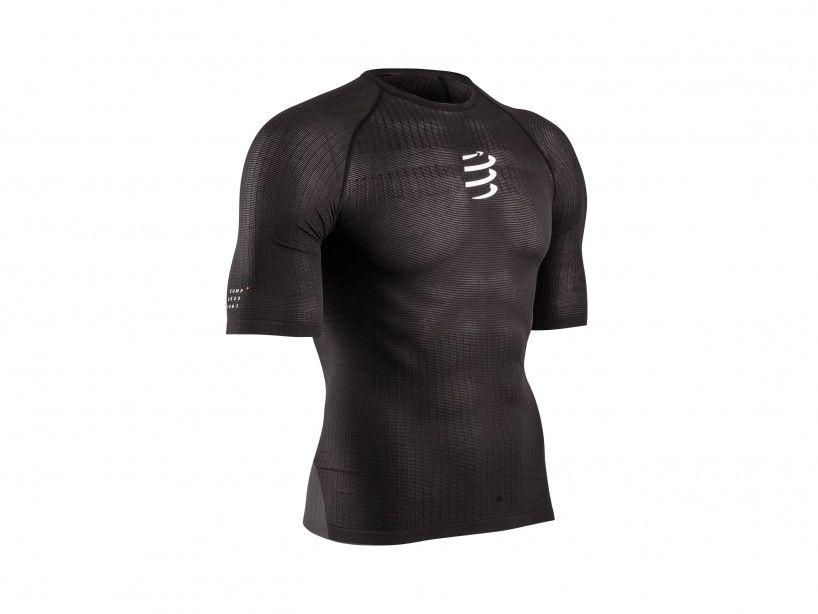 Schwarzes 3D-Thermo-Kurzarmshirt mit 50g