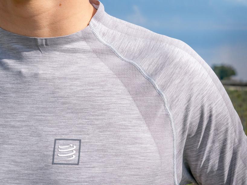 Langarmshirt für das Training grau melange