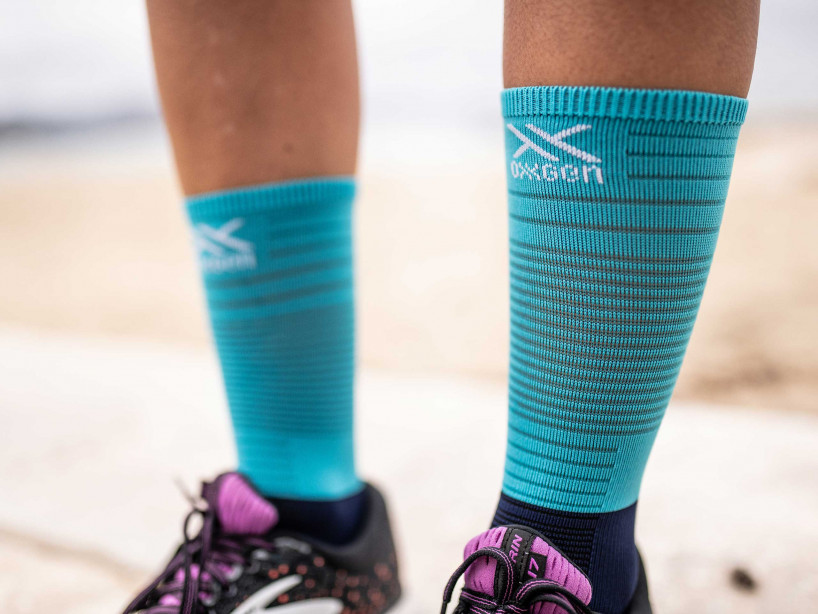 Mid Compression Socks Blau/Eisblau