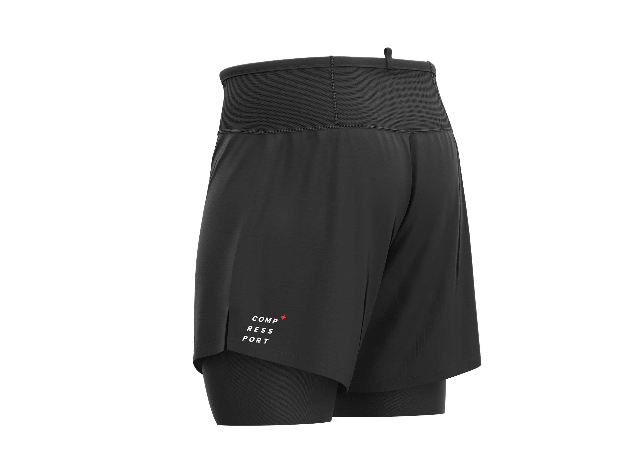 Trail 2-in-1 Short schwarz
