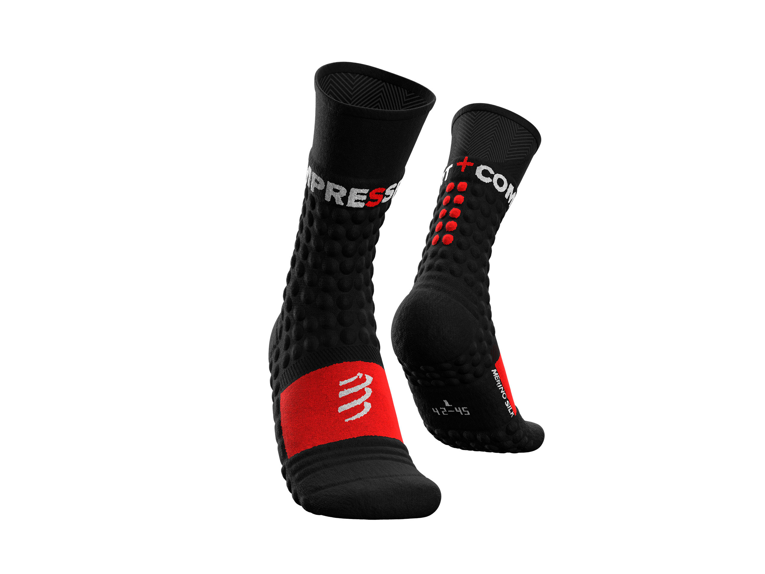 Pro Racing Socks Winter Run - Black Red