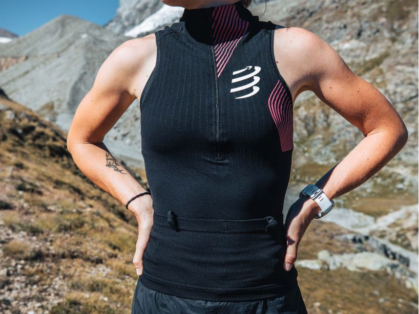 Trail Postural Tank Top W BLACK