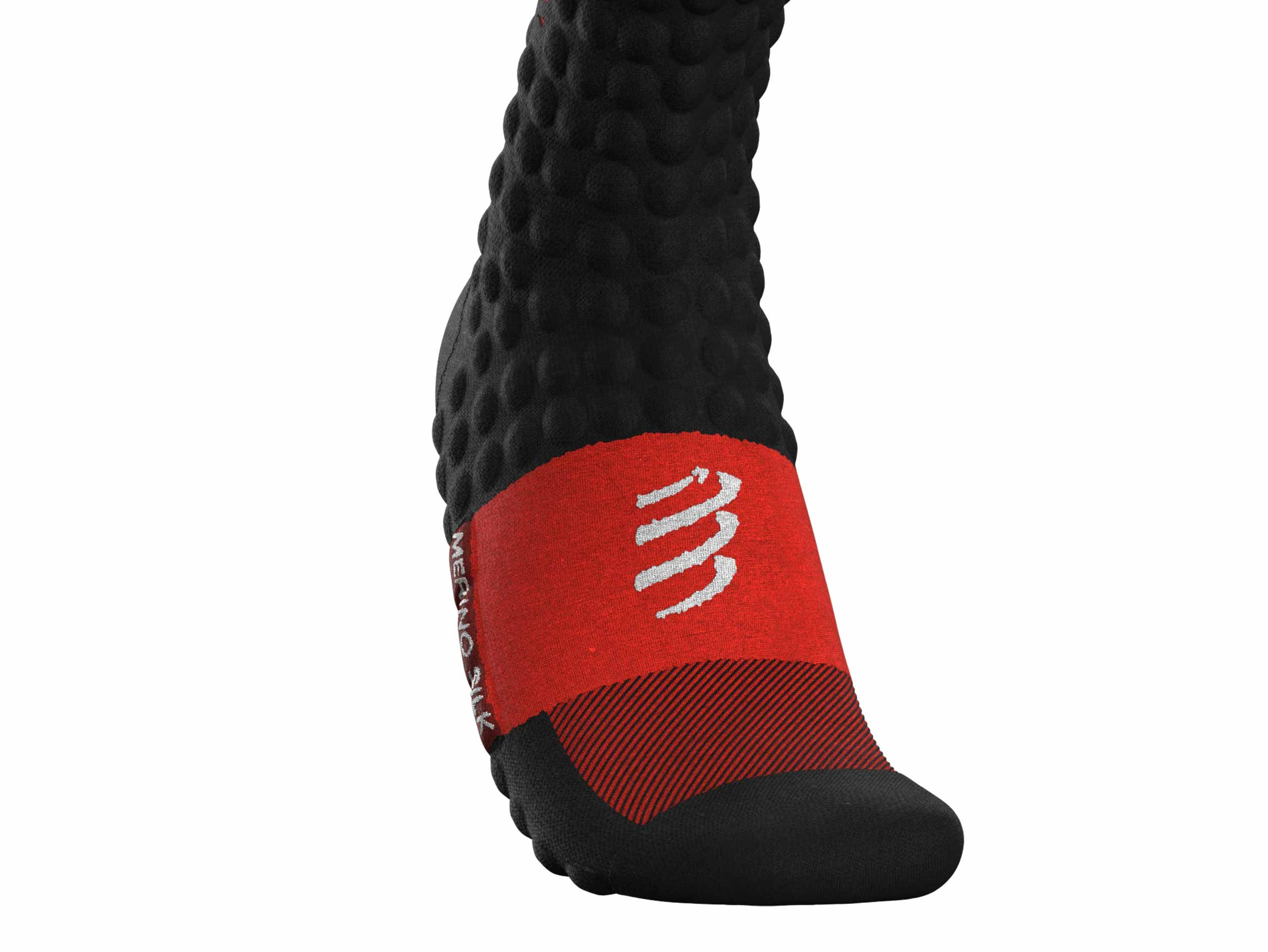 Skimo Full Socks - Black Red