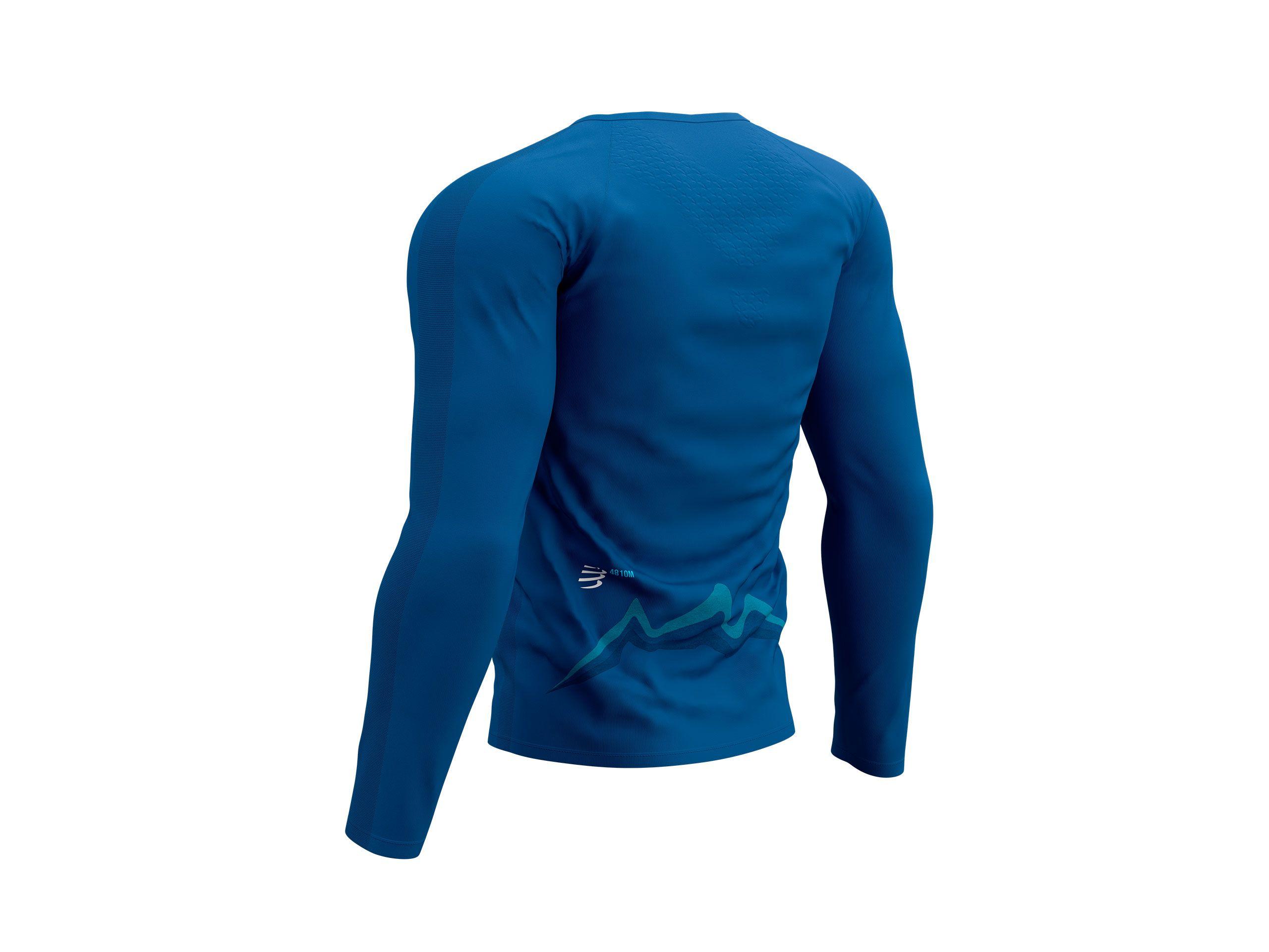 Training Tshirt LS - Mont Blanc 2021 BLUE