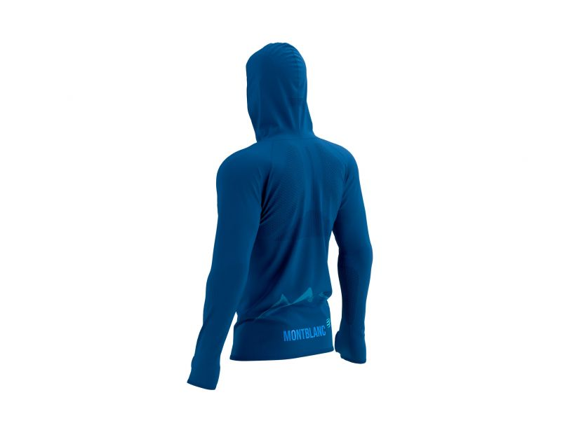 3D Thermo Seamless Hoodie Zip - Mont Blanc 2021 BLUE