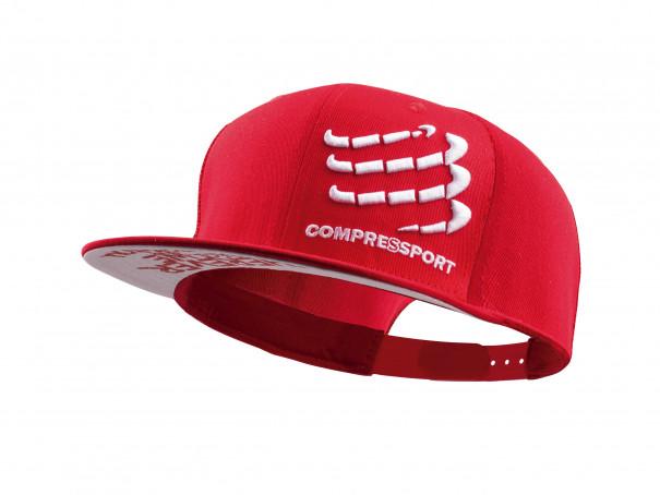 Gorra plana roja