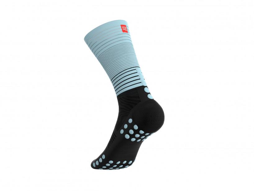 Calcetines de compresión media negro/azul cielo