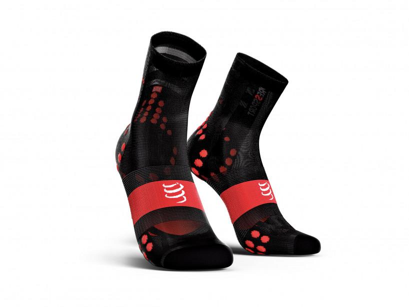 Calcetines deportivos pro v3.0 Ultralight Bike negro/rojo