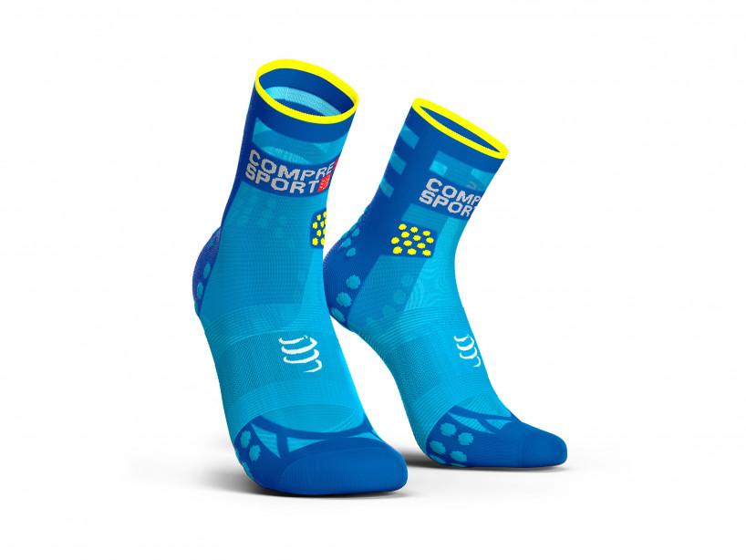 Calcetines deportivos pro v3.0 Run Ultralight Run High azul flúor