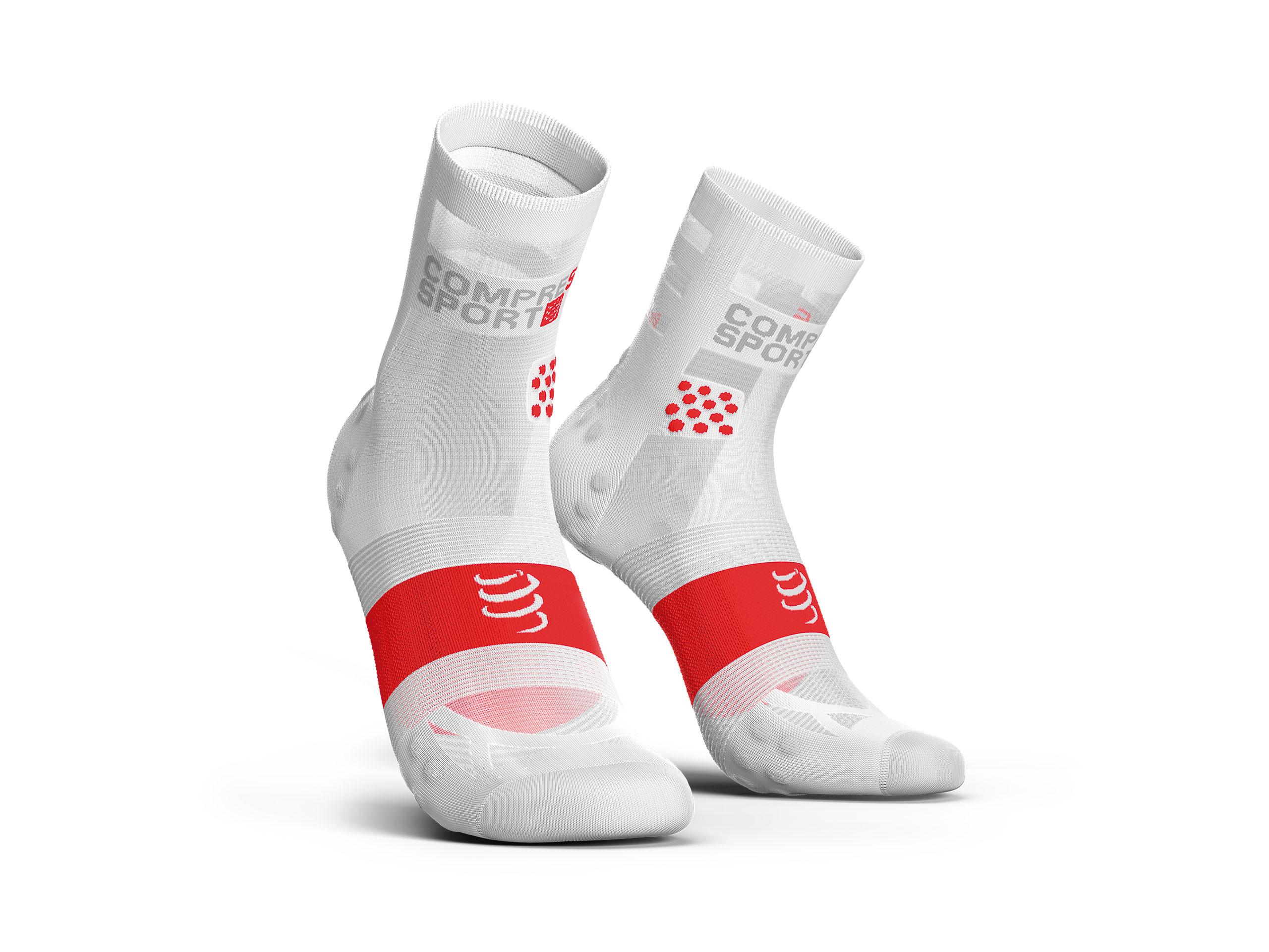 Calcetines deportivos pro v3.0 Run Ultralight Run High blanco