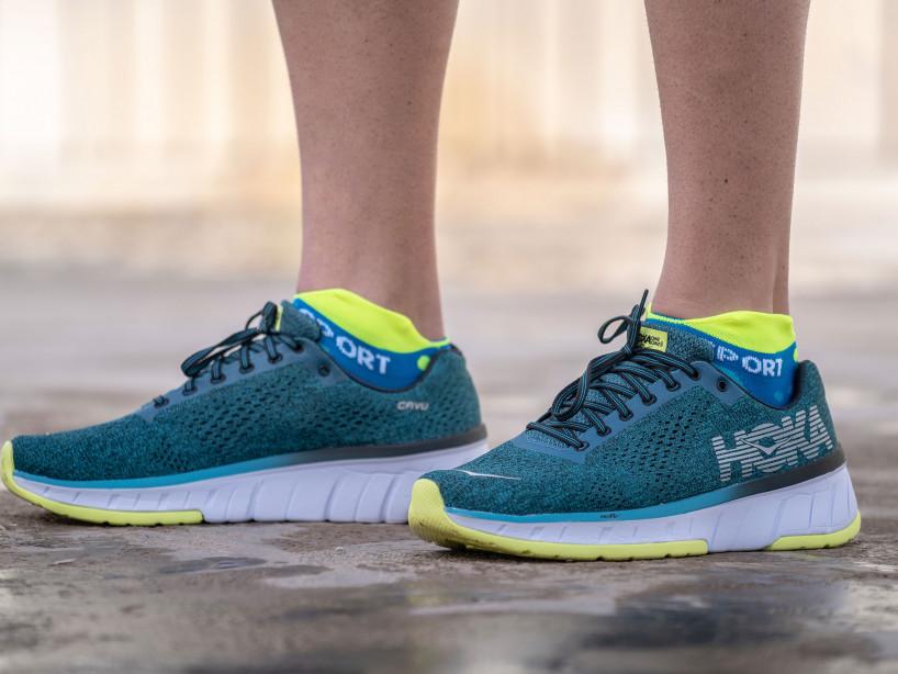 Calcetines deportivos pro v3.0 Run Ultralight Run Low azul flúor