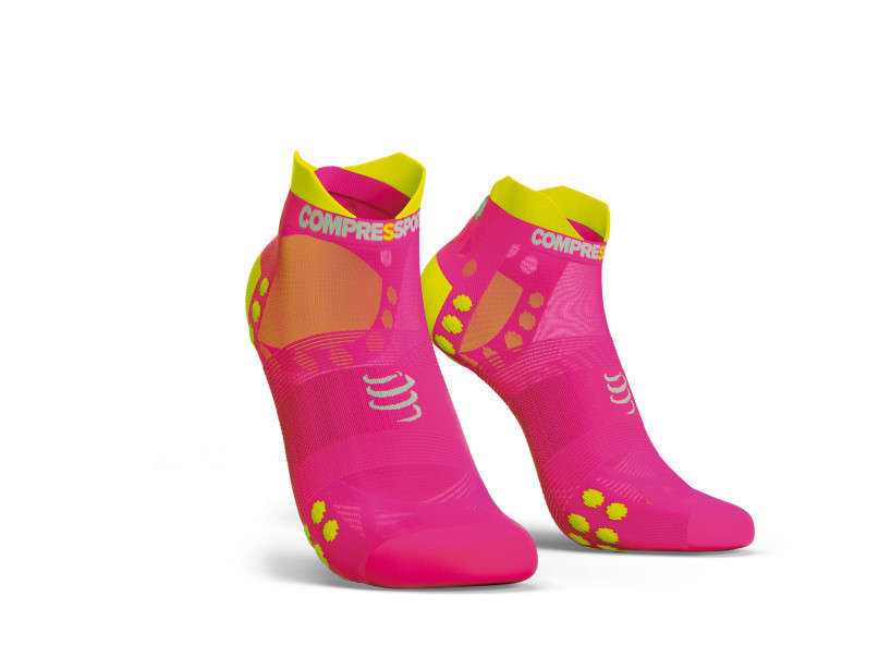 Calcetines deportivos pro v3.0 Run Ultralight Run Low rosa flúor