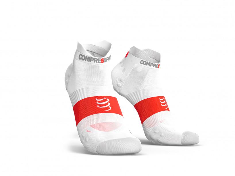 Calcetines deportivos pro v3.0 Run Ultralight Run Low blancos