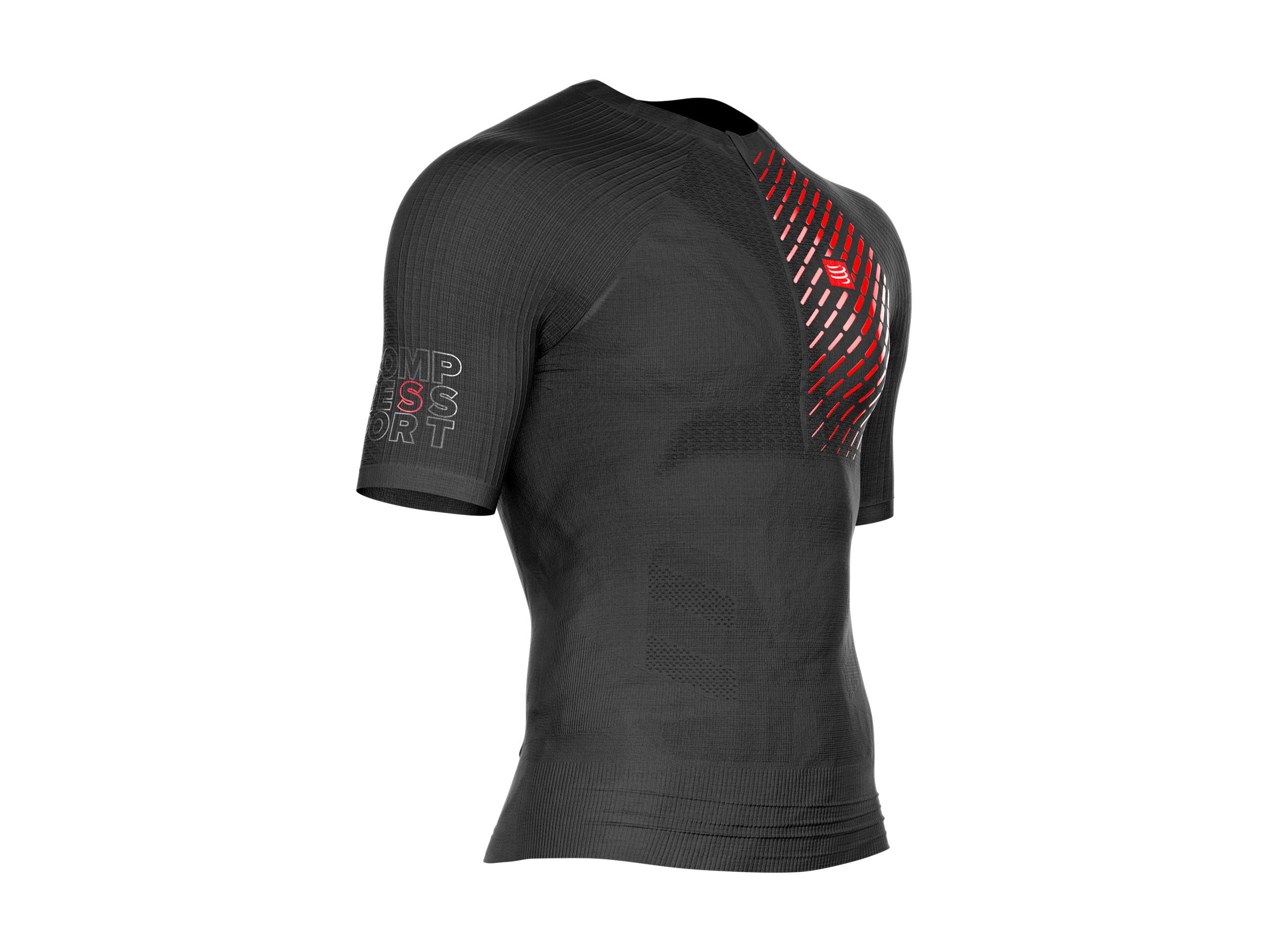 Camiseta MC postural de trail running negra
