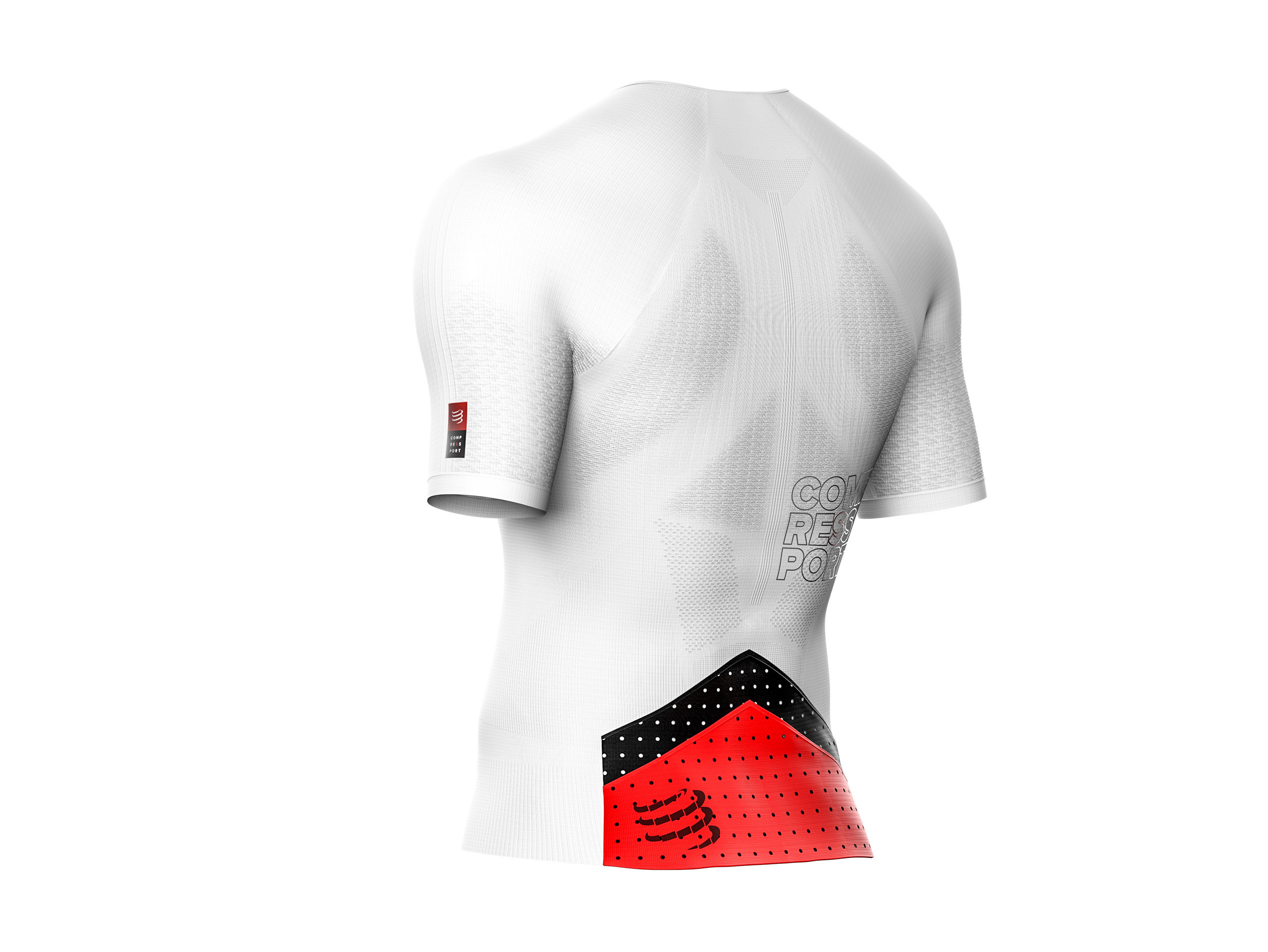 Camiseta Aero MC postural para triatlón blanca