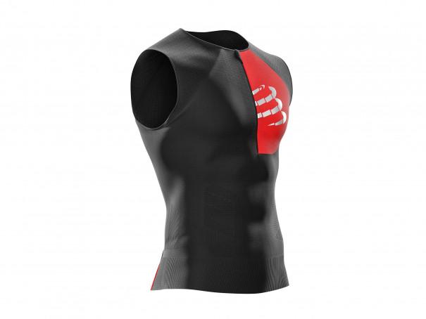 Camiseta sin mangas postural de triatlón negra