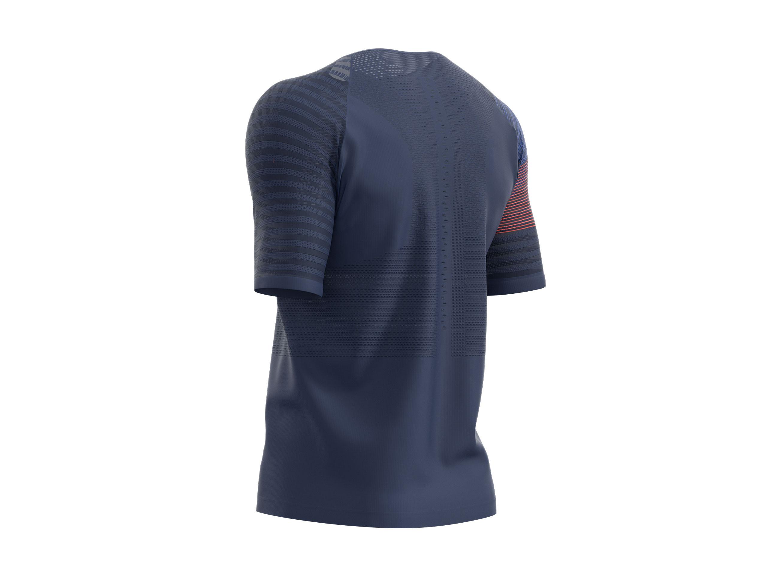 Camiseta MC deportiva H azul