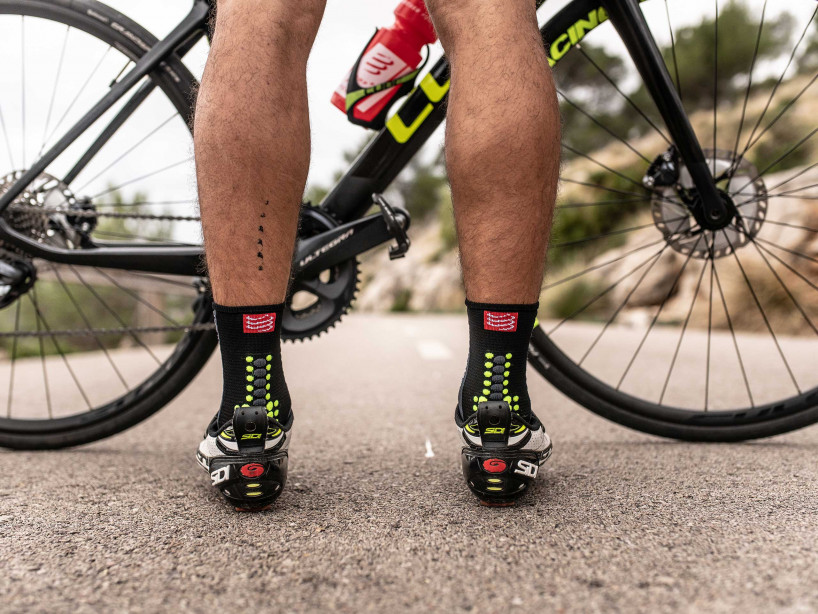 Calcetines Pro Racing v3.0 Bike negro/amarillo ácido