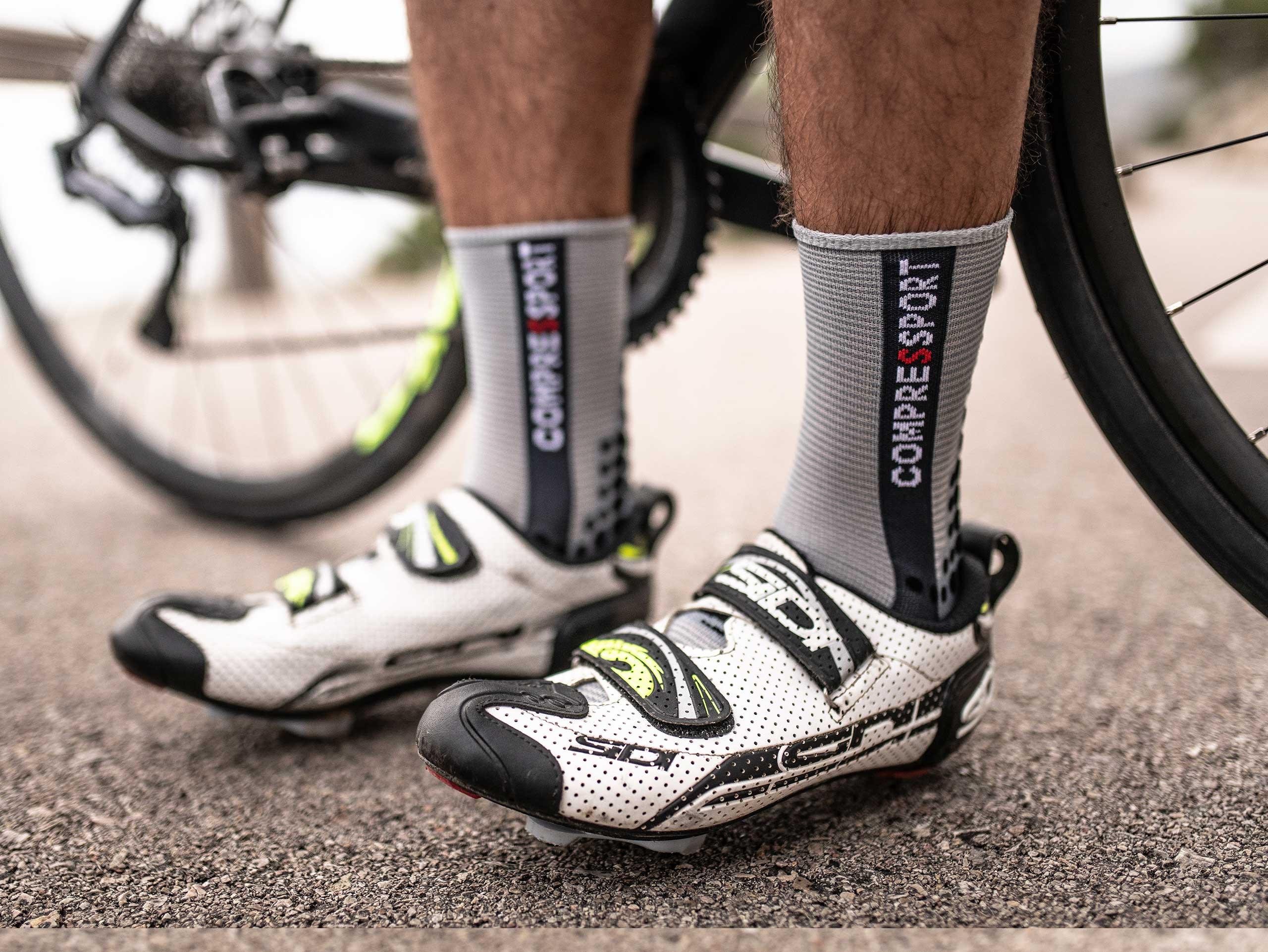 Calcetines Pro Racing v3.0 Bike gris jaspeado