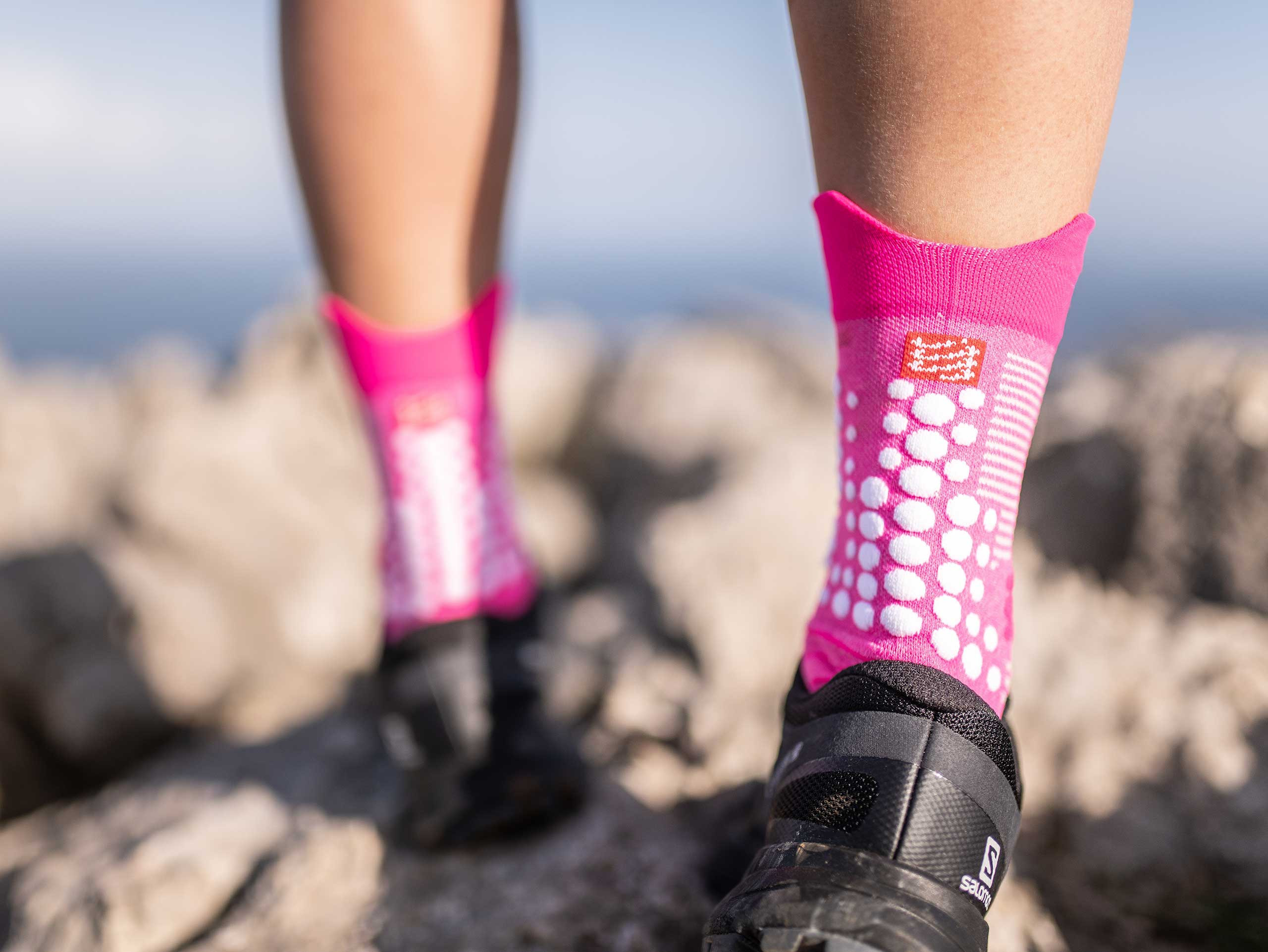 Calcetines Pro Racing v3.0 Trail rosa jaspeado