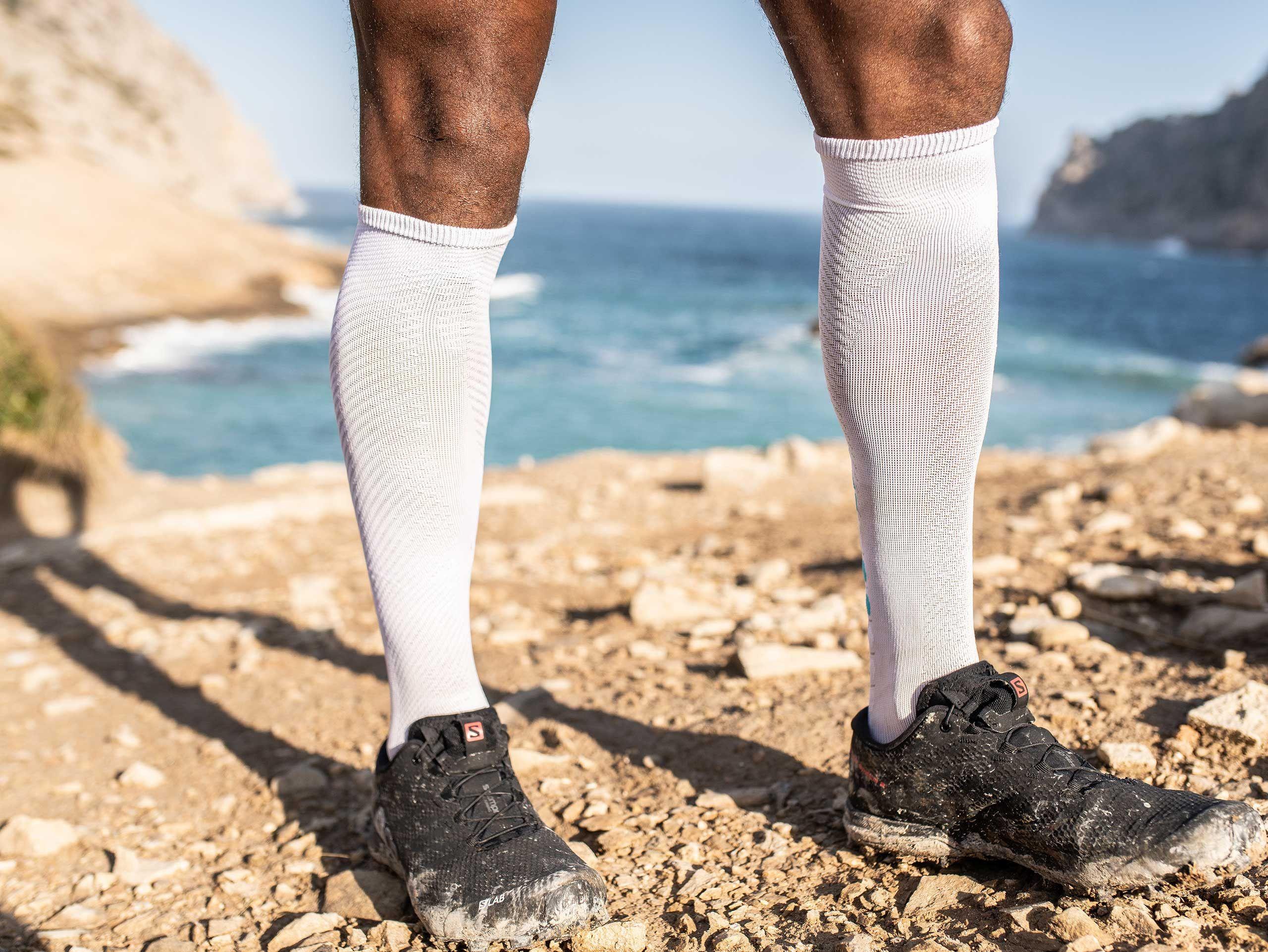 Calcetines altos Race Oxygen blancos