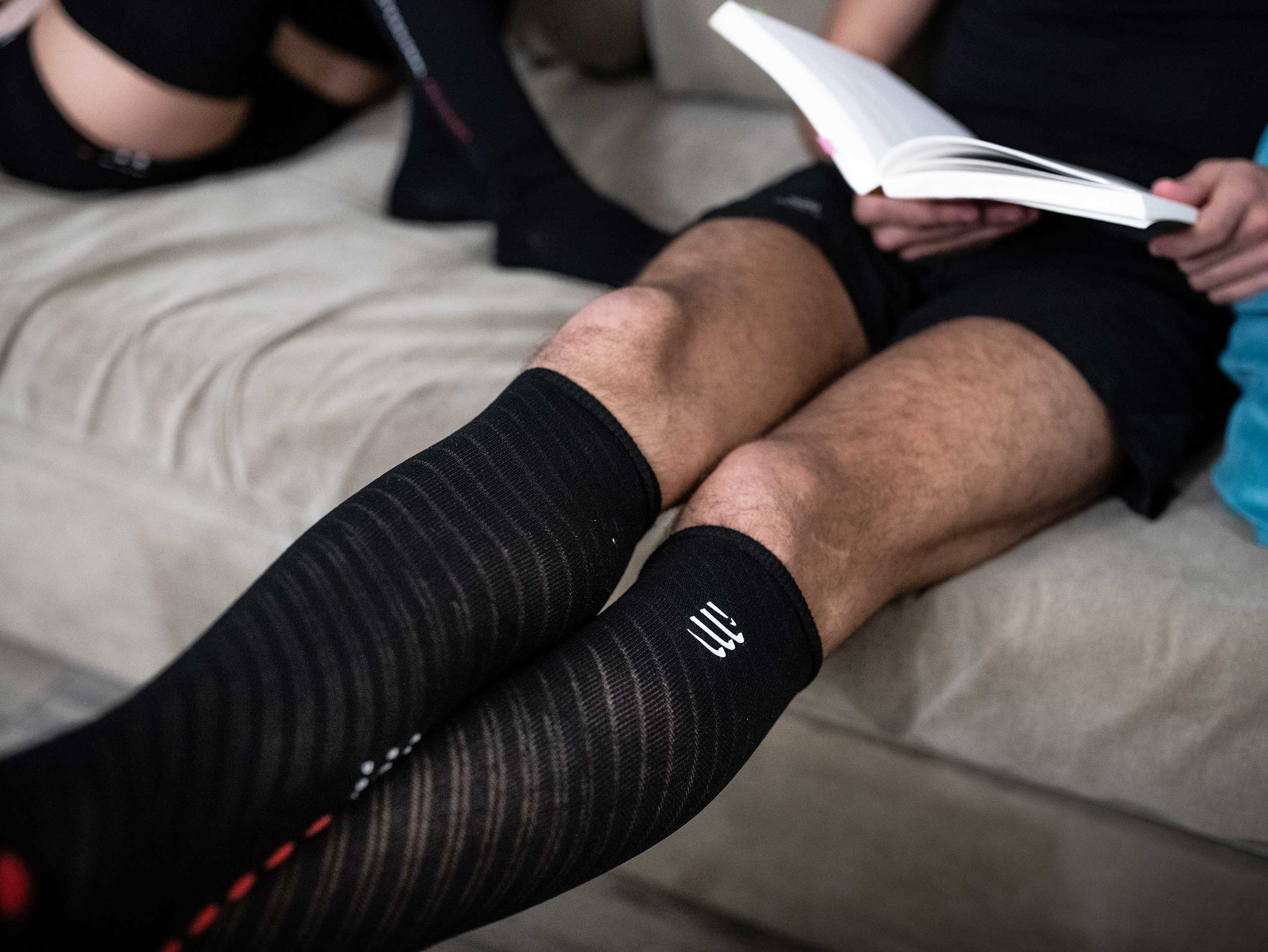 Calcetines altos Recovery negros