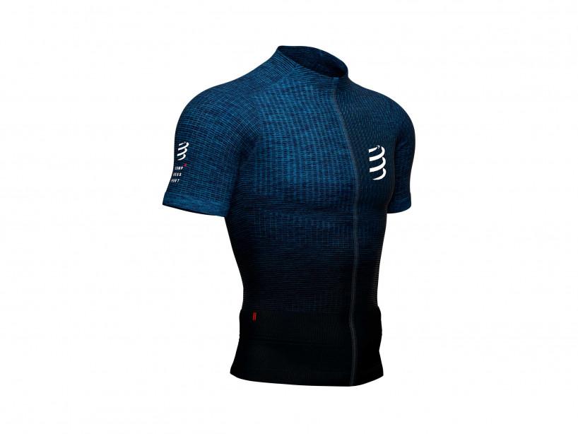 Camiseta Trail Postural MC azul jaspeado