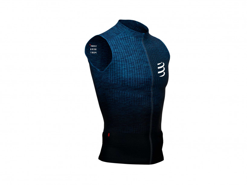 Camiseta sin mangas Trail Postural azul jaspeado