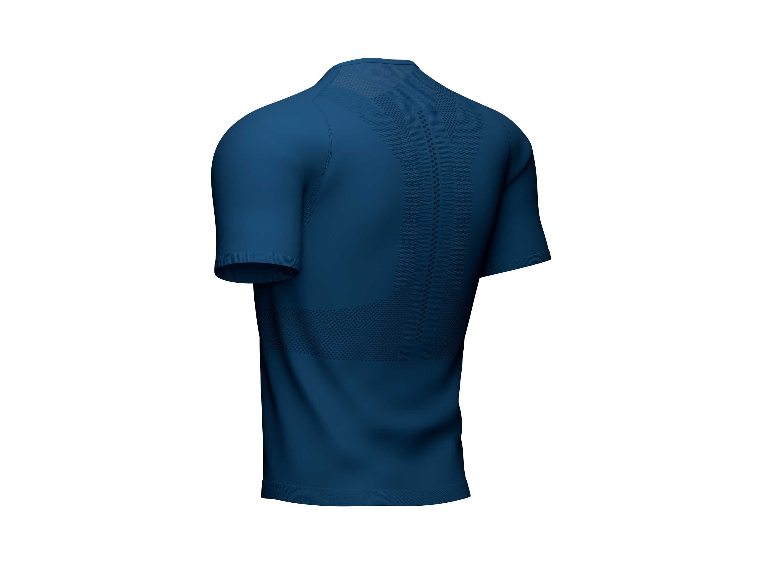 Camiseta Trail Half-Zip Fitted MC azul